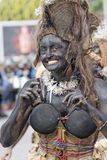 French Guiana's Annual Carnival February 7, 2010. A mysterious parade-goer participates in French Guiana's Annual Carnival February 7, 2010 Stock Photography