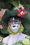 French Guiana's Annual Carnival February 7, 2010. A mysterious parade-goer participates in French Guiana's Annual Carnival February 7, 2010 Royalty Free Stock Photo