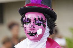French Guiana's Annual Carnival February 7, 2010. A mysterious parade-goer participates in French Guiana's Annual Carnival February 7, 2010 Stock Photos