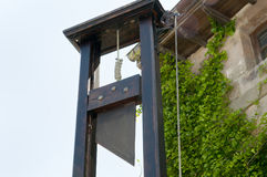 French Guillotine. Old French Guillotine Execution Device Royalty Free Stock Images