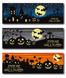 French halloween banner Stock Image