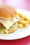 french hamburgery fry wegetarianką Zdjęcia Royalty Free
