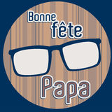 French Happy Father`s day card Royalty Free Stock Photos