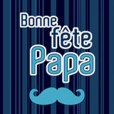 French Happy Father`s day card Stock Photos