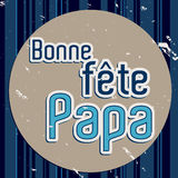 French Happy Father`s day card Royalty Free Stock Images