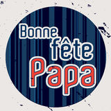 French Happy Father`s day card Stock Photo