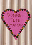 French happy mothers day card Stock Photography