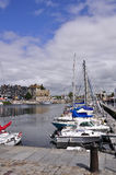 French harbor in Honfleur Stock Images