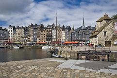 French harbor in Honfleur Royalty Free Stock Image