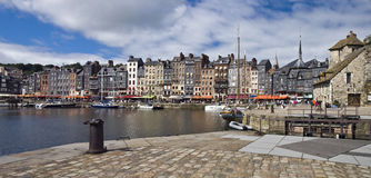French harbor in Honfleur Stock Photography
