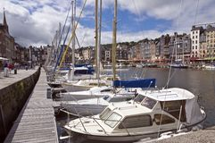French harbor in Honfleur Stock Photos