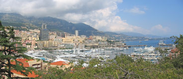 French harbour in Monaco Royalty Free Stock Photography