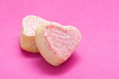 French heart bakery with marzipan Stock Photo