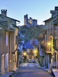 French historic town at sunset Royalty Free Stock Image
