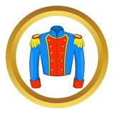 French historical uniform of soldier vector icon Royalty Free Stock Photos