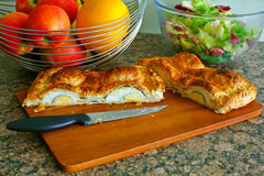 Home made egg pie Stock Image