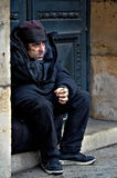 French homeless Royalty Free Stock Image