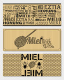 French honey stickers Stock Images