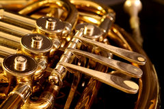 French Horn. Close up of a French Horn Stock Photography