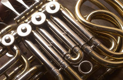 French Horn. Musical Instrument Detail Royalty Free Stock Photo