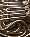 French Horn. Musical Instrument Detail Stock Photography