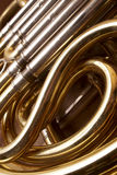 French Horn. Musical Instrument Detail Royalty Free Stock Images
