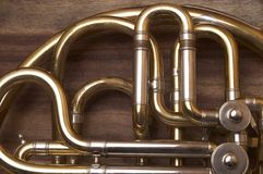 French Horn. Musical Instrument Detail Royalty Free Stock Image