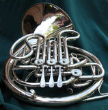 French horn Stock Photos