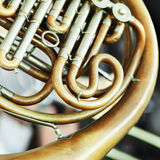 French Horn. Close-up of a french horn Musical Instrument Royalty Free Stock Image