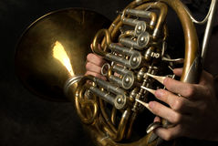 French Horn closeup Royalty Free Stock Image