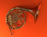 French horn Stock Image