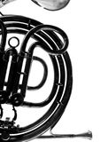 French horn details Royalty Free Stock Photography