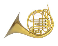French Horn Isolated Royalty Free Stock Image