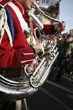 French Horn in a Marching Band Stock Photos
