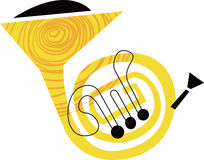 French Horn Musical Instrument Stock Image