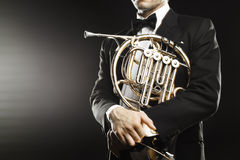 French horn Royalty Free Stock Image