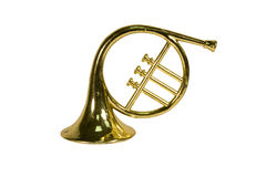 French horn ornament Royalty Free Stock Image