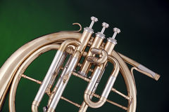 French horn Peckhorn Isolated on Green Stock Photos