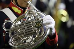 French Horn playing stock photo