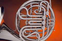 French Horn Silver On Gold royalty free stock images