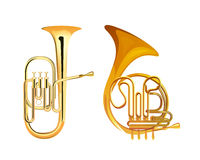 French Horn and Tuba Royalty Free Stock Image