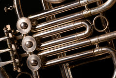 French horn tubes Royalty Free Stock Photography