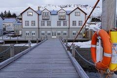 French hospital in Faskrudsfjordur Royalty Free Stock Image