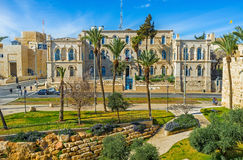 The French Hospital in Jerusalem Stock Images