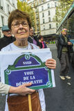 French Hospital Protest Royalty Free Stock Photo