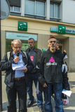 French Hospital Protest Royalty Free Stock Photography