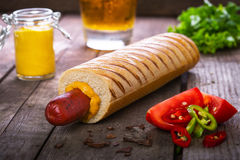 French hot dog grill Royalty Free Stock Photos