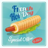 French Hot Dog Poster Royalty Free Stock Photo