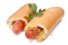 French hot dogs Royalty Free Stock Photos