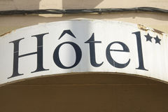French hotel Stock Image